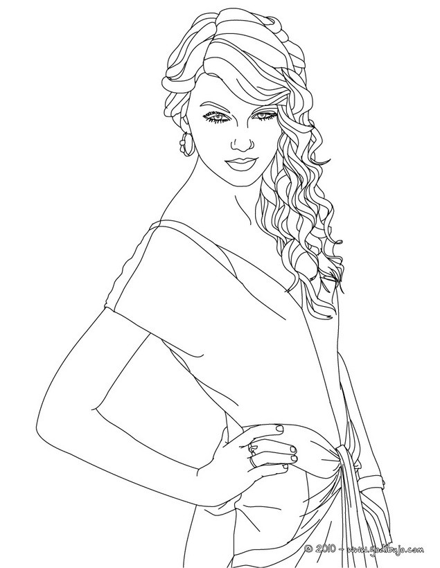 Dibujos para colorear taylor swift for Taylor swift coloring pages