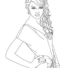 Dibujo para colorear : Taylor Swift