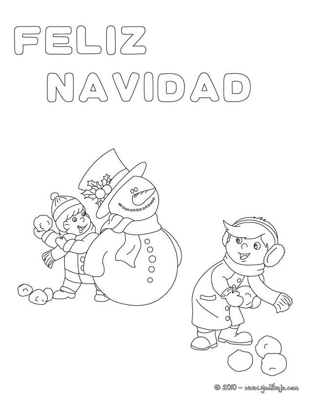 Vistoso Navidad Muñeco De Nieve Para Colorear Molde - Dibujos Para ...