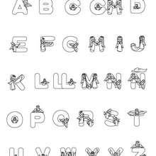 Dibujo para colorear : Letras Ángeles