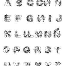 Dibujo para colorear : Letras Chuches de Navidad