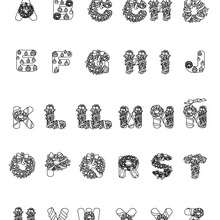 Dibujo para colorear : Letras Guirnalda
