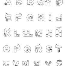 Dibujo para colorear : Letras Velas