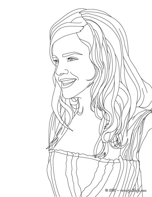 Dibujos para colorear retrato de emma watson - es.hellokids.com