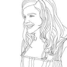 Retrato de emma watson para colorear - Dibujos para Colorear y Pintar - Dibujos para colorear FAMOSOS - EMMA WATSON para colorear