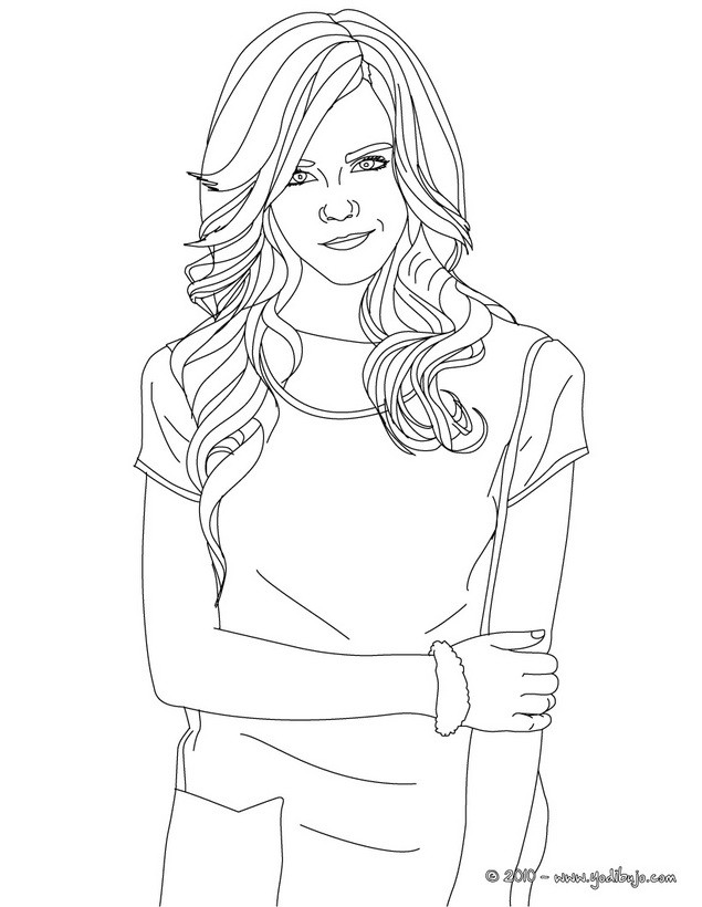 Dibujos Para Colorear Emma Watson Con Camiseta De Mangas