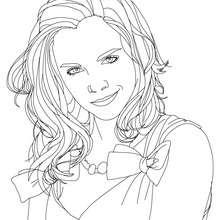 Dibujo para colorear : melena ondulada de emma watson