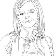 Dibujo para colorear : Emma Watson con el pelo corto
