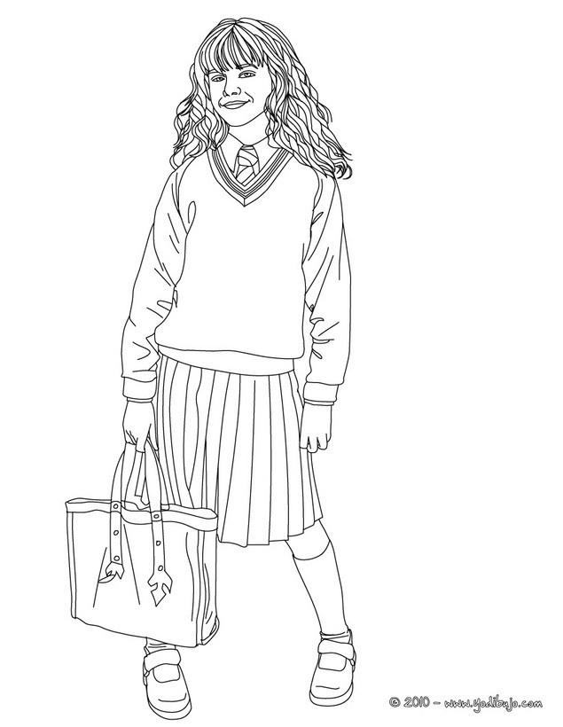 Dibujos Para Colorear Emma Watson En Hermione Granger Es