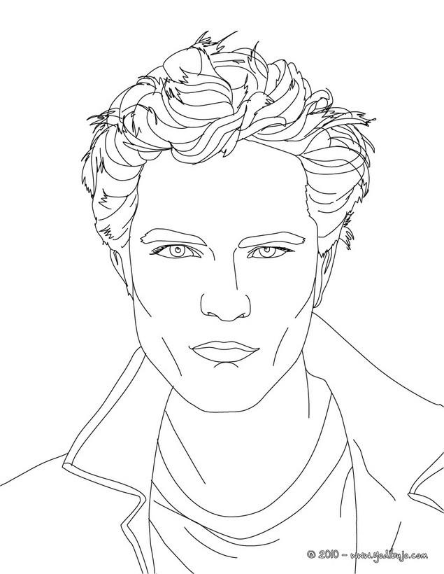 Dibujos para colorear retrato hermoso robert pattinson - es ...