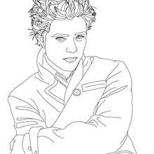 Dibujo para colorear : hermoso robert pattinson
