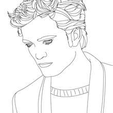 Dibujo para colorear : robert pattinson pensativo