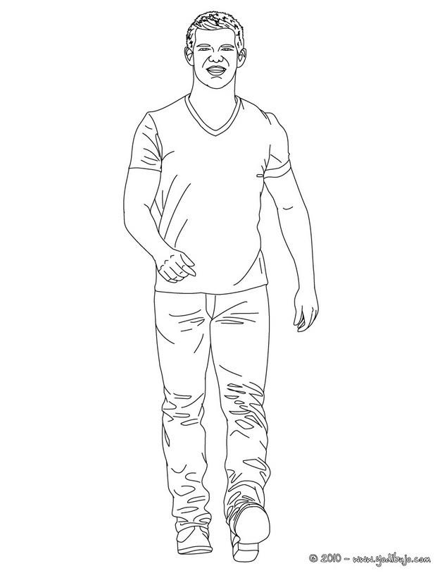 Dibujos para colorear taylor lautner caminando  eshellokidscom