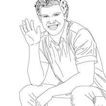 Dibujo para colorear : taylor lautner saludando