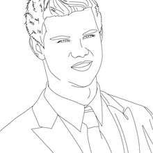 Dibujo para colorear : Retrato de taylor lautner