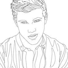 Retrato para colorear taylor lautner seductor