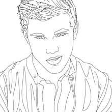 Dibujo para colorear : Retrato  taylor lautner seductor