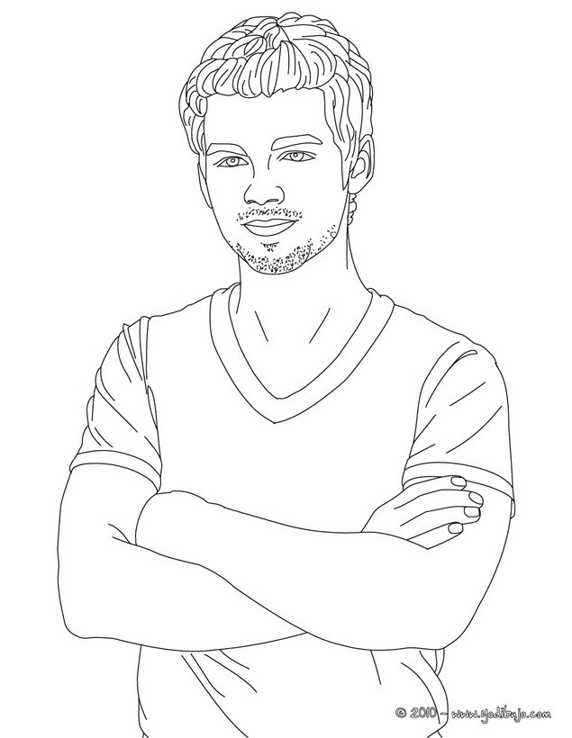 JOE JONAS para colorear - 11 dibujos de joe jonas para pintar y ...