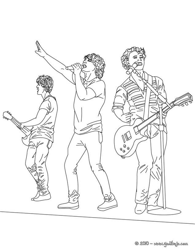 Dibujos de JONAS BROTHERS para colorear - imprimir y pintar 39 ...
