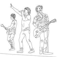 Dibujo para colorear concierto de los Jonas Brothers - Dibujos para Colorear y Pintar - Dibujos para colorear FAMOSOS - JONAS BROTHERS para colorear