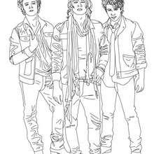 Dibujo para colorear : Los Jonas