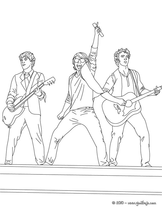 Dibujos para colorear camp rock - es.hellokids.com