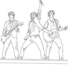 Dibujo para colorear : los Jonas en vivo