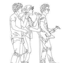 Dibujo para colorear los Jonas Brother en vivo - Dibujos para Colorear y Pintar - Dibujos para colorear FAMOSOS - JONAS BROTHERS para colorear