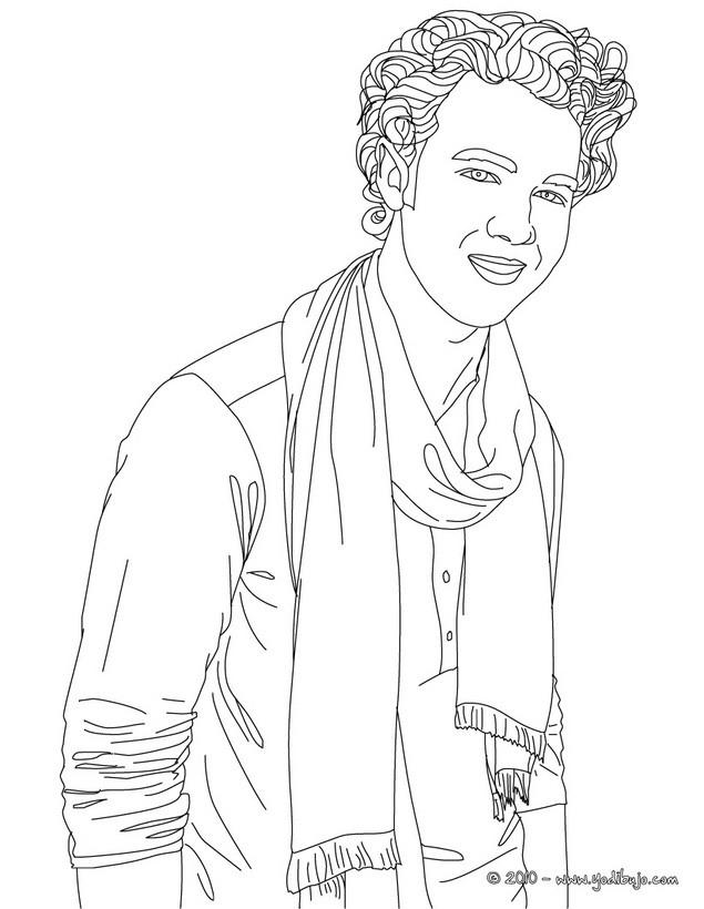 Dibujo para colorear : Kevin Jonas sonriendo