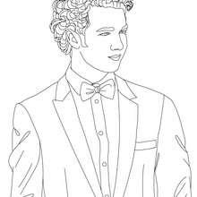 Dibujo para colorear Kevin Jonas en traje - Dibujos para Colorear y Pintar - Dibujos para colorear FAMOSOS - JONAS BROTHERS para colorear - KEVIN JONAS para colorear