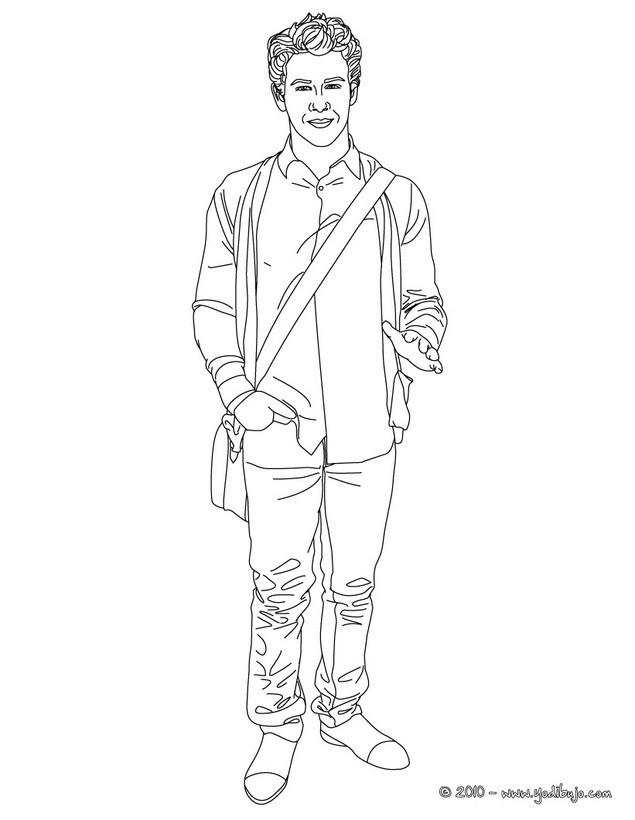 NICK JONAS para colorear - Nick Jonas de pie