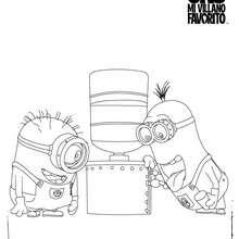 Dibujos para colorear los MINIONS - Dibujos para Colorear y Pintar - Dibujos de PELICULAS colorear - Dibujos para colorear GRU MI VILLANO FAVORITO