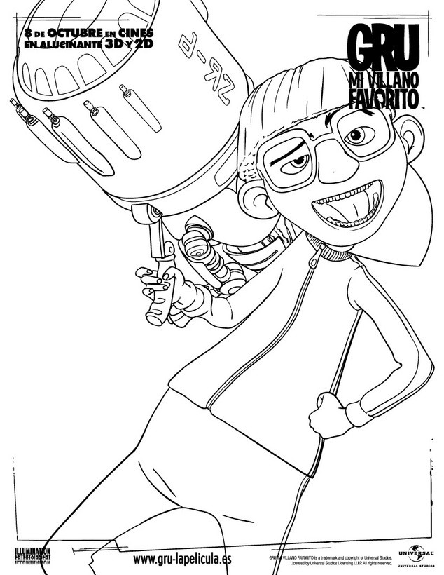 Dibujos para colorear pequeña agnes - es.hellokids.com