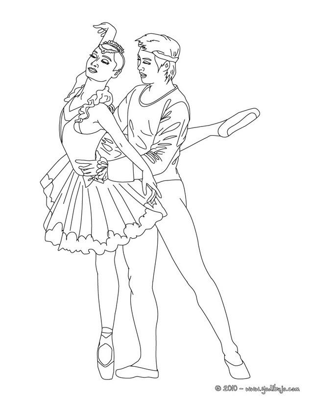 Dibujos para colorear bailarinas haciendo un jeté grande - es ...