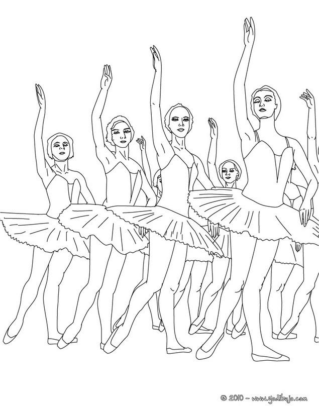 Dibujos de DANZA BALLET para colorear - 41 Dibujos para COLOREAR los ...
