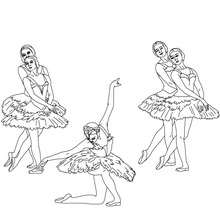 Dibujo para colorear : reverencia final del ballet
