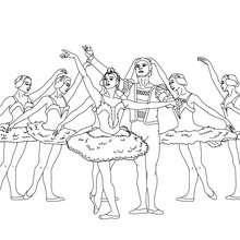 Dibujo para colorear saludo final con bailarines - Dibujos para Colorear y Pintar - Dibujos para colorear DEPORTES - Dibujos de DANZA BALLET para colorear - Dibujos de BAILARINAS para colorear