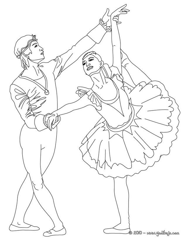 Dibujos para colorear bailarin y bailarina  eshellokidscom