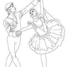 Dibujo para colorear bailarin y bailarina - Dibujos para Colorear y Pintar - Dibujos para colorear DEPORTES - Dibujos de DANZA BALLET para colorear - Dibujos de PAREJAS DE BAILARINES para colorear