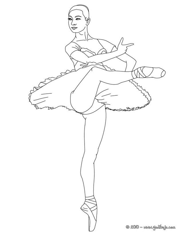 Dibujos para colorear una bailarina haciendo un arabesco - es ...