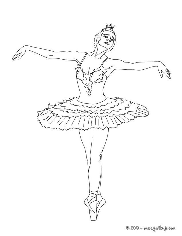 bailarina para colorear