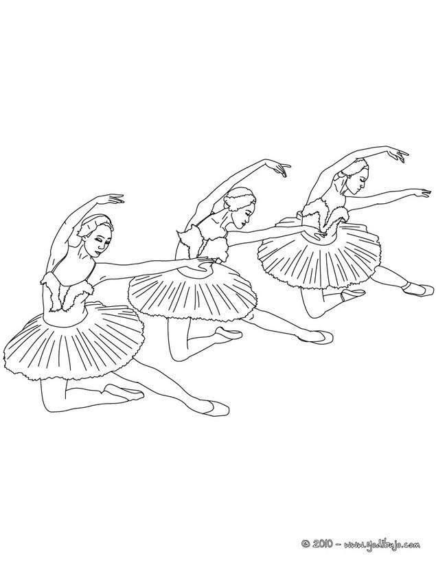 Dibujos para colorear profesor y bailarina haciendo arabesco en la ...