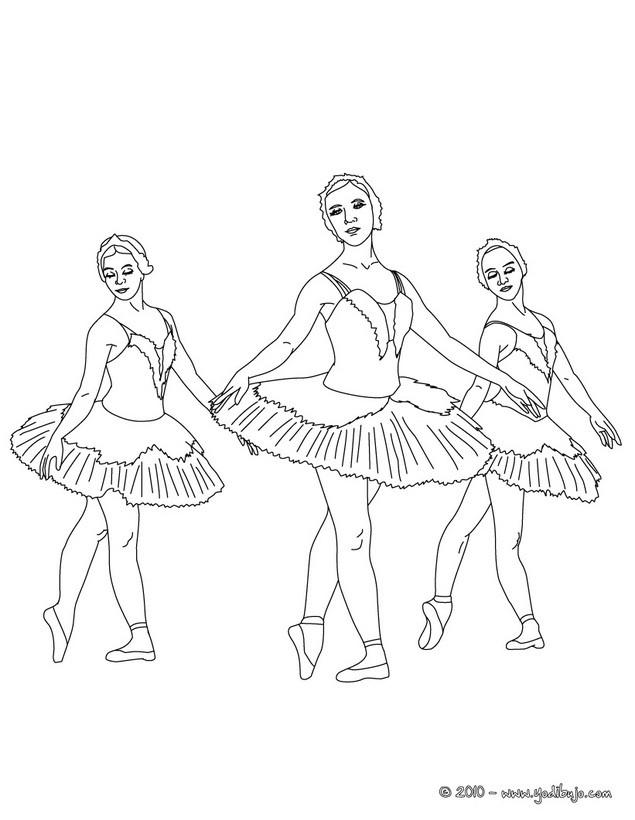 Dibujo para colorear : Coregrafía clásica