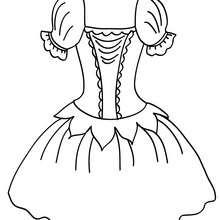 Dibujo para colorear un tutu de ballet - Dibujos para Colorear y Pintar - Dibujos para colorear DEPORTES - Dibujos de DANZA BALLET para colorear - Dibujos para colorear ROPA DE DANZA