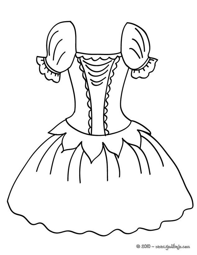 Dibujo para colorear : un tutu de ballet