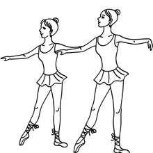 Dibujo para colorear bailarian haciendo un degage en la clase de ballet - Dibujos para Colorear y Pintar - Dibujos para colorear DEPORTES - Dibujos de DANZA BALLET para colorear - Dibujo para colorear CLASE DE BALLET