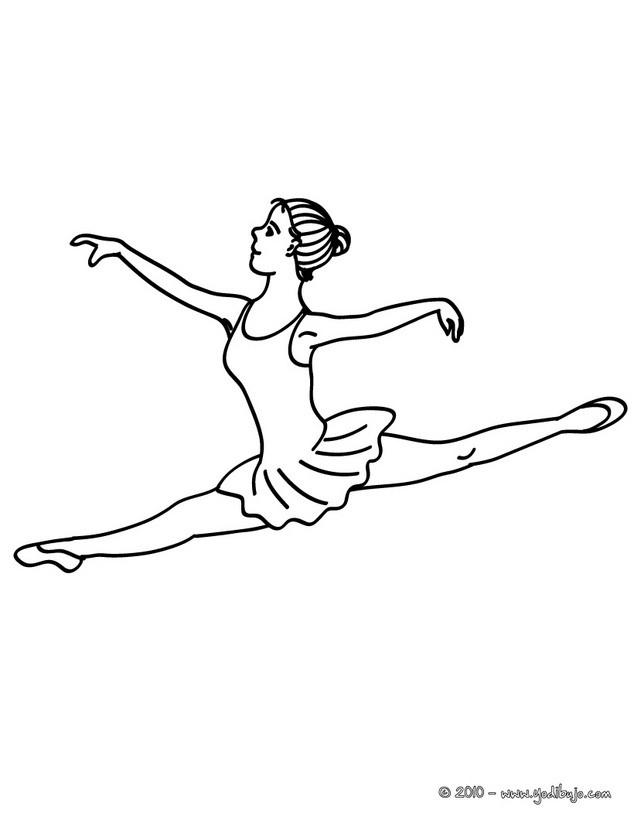 Dibujos para colorear zapatillas de ballet - es.hellokids.com