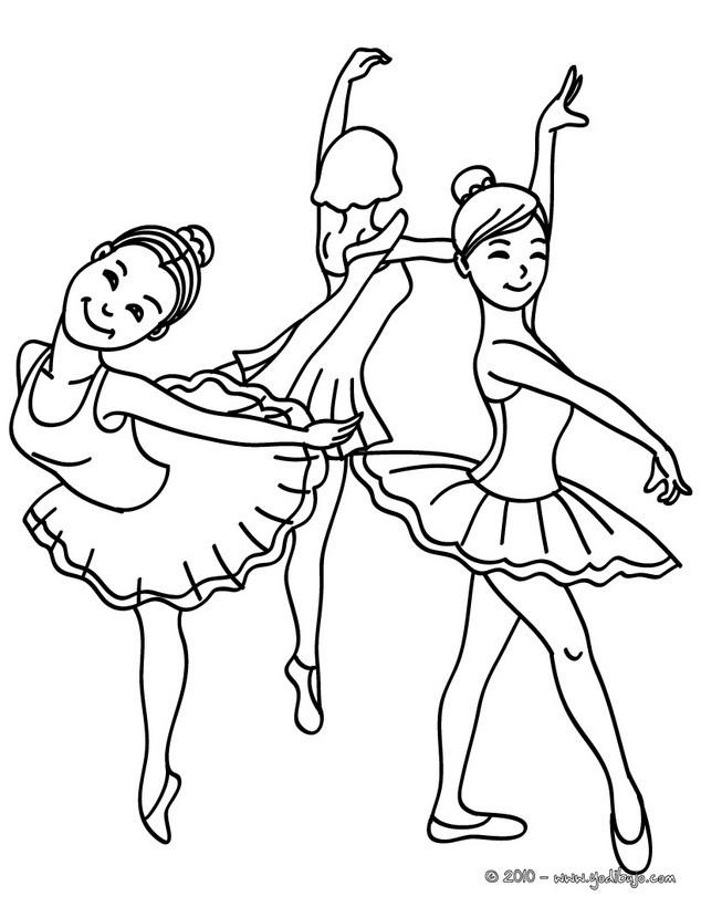 Dibujos para colorear zapatillas de ballet   es.hellokids.com