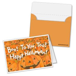 Invitacion y sobre de Halloween