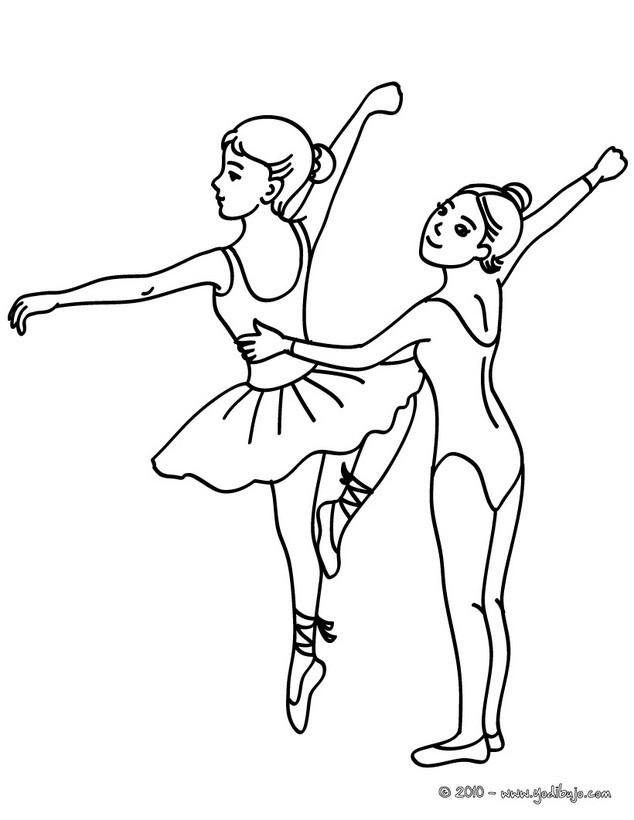 Dibujos para colorear danza para dos por una pareja de bailarines